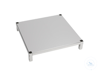 Sheet tablar, 750 x 750 mm, with 4 shots, stainless steel Sheet tablar, 750 x 750 mm, with 4...