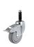 Steering roller Ø 100 mm with brake including tube sleeve Steering roller Ø 100 mm mit brake,...