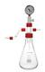 Woulff'sche Flasche, 2000 ml, GL 45 mit Rückschlagventil, Kunststoffüberzug Woulffsche Flasche,...