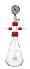 Woulff bottle, 3000 ml, GL 45 plastic coated Woulff bottle, bottle shape, 3000 ml, glass insert...