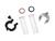 Dreipunkt-Klemme/Alu DN 10  Dreipunkt-Klemme DN 10 aus Aluminium mit Edelstahlschrauben.