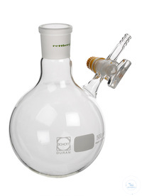Nitrogen flask, 250 ml, socket size 29/32, side stopcock 2,5 mm bore,  hose connection 9 mm...
