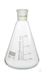 Erlenmeyer flask, 25 ml, socket size 14,5/23 Erlenmeyer flasks, 25 ml, socket size 14,5/23,...