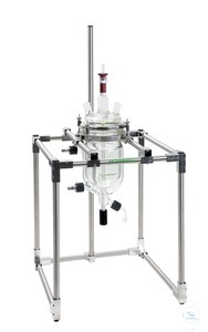 Table rack for reaction vessels, up to 6 liter, with flange holder NW 150, stainless steel Table...