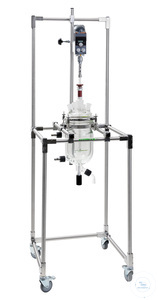 Mobile rack for reaction vessels up to 6 liter, without flange holder, stainless steel Mobile...