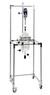 Fahrbares Gestell für Reaktionsgefäße bis 6 Liter, mit Flanschhalterung  NW 200, Edelstahl...