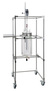 Fahrbares Gestell für Reaktionsgefäße 6-20 Liter, mit Flanschhalterung NW 200, seitl. Tableau,...