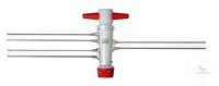 Zweiweg-Patenthahn, PTFE-Küken NS 14,5/2,5 mm Bohrung Zweiweghahn - Patenthahn, PTFE-Küken NS...