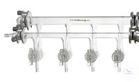 N2/vacuum line, interchangeable, height approx. 19 cm, length 50 cm, 4 double...