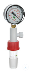 Vacuum gauge with 2 scale ranges, with adapter thread GL 32 to cone size 29/32 Vacuum gauges with...