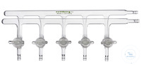Nitrogen distribution tubes with 5 patented 2-way glass stopcocks Nitrogendistribution tubes with...