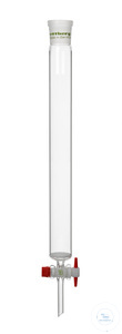 27artículos como: Chromatography column, FH 750 mm, I-Ø 60 mm, socket size 45/40, glass filter...