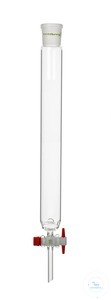 Chromatography column, FH 200 mm, I-Ø 10 mm, socket size 14,5/23, with recess...