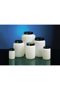 Wide neck jar, HDPE natural, 2000 ml, round, w/o closure, cap size o.d. Ø 80