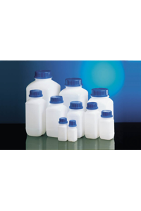 10Artículos como: Wide neck bottle HDPE natural 100 ml square w/o closure cap size o.d. Ø 32...