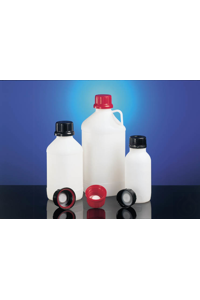4Artículos como: UN narrow neck bottle HDPE black 1000 ml square w/o closure cap size o.d. Ø...