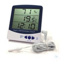 Hygro thermometers type 15020 Hygro-Thermometer-Clock, with Min/Max Memory,...