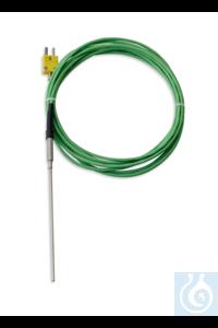 TYP-K-Messfühler zum Eintauchen; -100 bis +400 °C, Mantel-Ø 3 mm...