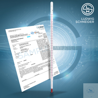 30Artículos como: Laboratory thermometers, encl. scale -10+100°C in 1°C, red, with works-cal. 3...