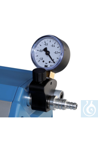 Manual vacuum regulator valve with analogue pressure gauge for diaphragm pump...