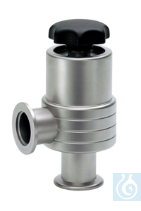 Bellow sealed angle valve VE, stainless steel, KF DN 25 High vacuum bellow...
