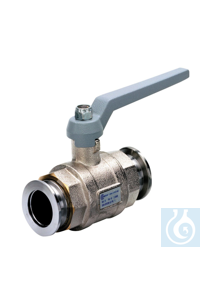 Ball valve VK 25, brass, small flange, KF DN 25 Ball valve VK 25 --- ---...
