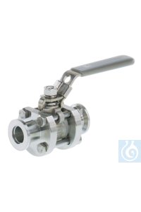 Ball valve VKE 16, stainless steel, KF DN 16 Ball valve VKE 16 --- ---...