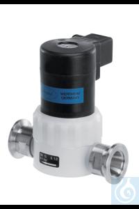 Saugleitungsventil VV 15C EM 24 V, PVDF/PTFE, elektromagnetisch KF DN 16