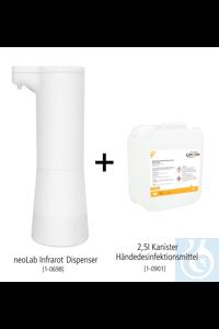 neoLab Tisch-Hygiene Bundle #1 (Infrarot Dispenser + 2,5l...