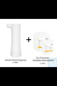 neoLab Tisch-Hygiene Bundle #2 (Infrarot Dispenser + 2x 2,5l...