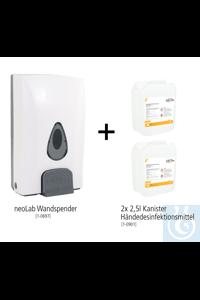 neoLab Wand-Hygiene Bundle #1 (Wandspender + 2x 2,5l Handdesinfektionsmittel)...