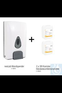 neoLab Wand-Hygiene Bundle #3 (Wandspender + 2x 30l Handdesinfektionsmittel)...