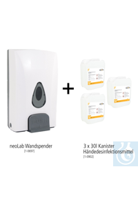 neoLab Wand-Hygiene Bundle #4 (Wandspender + 3x 30l Handdesinfektionsmittel)...