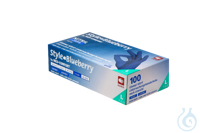 neoLab Nitril Einmalhandschuhe Blaubeere (Blueberry), Gr. M, 100 Stück/Box neoLab Nitril...