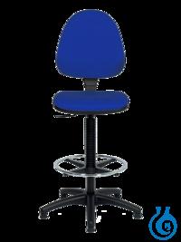 neoLab® Laborstuhl PVC-Bezug blau, Gleiter + Fußring, höhenverstellbar ca. 56-82 neoLab®...
