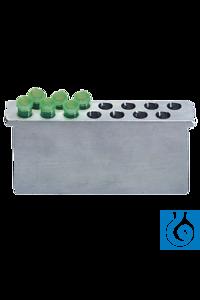 neoLab® Alu-Einsatz für Eisbad klein, für 14 x 1,5 ml  Aluminium-Einsätze für das Eisbad, klein....