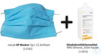 Bundle-Aktion: OP-Masken, 50 Stück inkl. Händedesinfektionsmittel, 250 ml Flasch