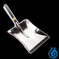 neoLab® Kehrschaufel aus Edelstahl, 23 x 18,5 cm Aus Edelstahl mit Gummilippe...