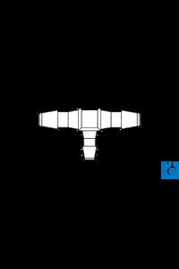 neoLab® T-Verbinder, 1 x 2,4-3,4 mm, 2 x 3,2-4,2 mm, PP, 10 Stck./Pack Reduzierstück, T-Form, aus...