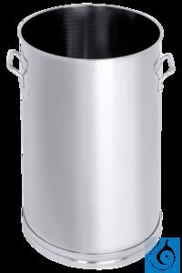 ecoLab -Transportbehälter 30 Liter, 18/8-Stahl mit Kippgriffen und Stehrand...