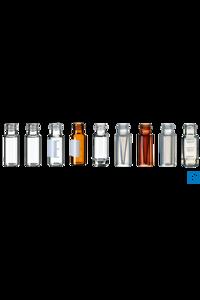 neochrom® Kurzgewindeflaschen ND9, PP braun 1,5 ml, Füllmark., Bod. konkav, 100 Die Flaschen...