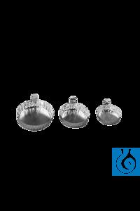neoLab® Aluschalen mit Griff Größe IV, 35 ml, 13 mm Ø x 3,5 mm h, 100 St./Pack Stabile, rund...