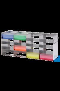 neoLabLine® Schrankgestell f. neoBox-50, 4x3 Fächer, 146 x 362 x 181 mm Für alle Kryo-Boxen mit...