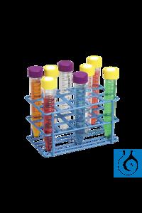 neoLab® Gestell für Zentrifugenröhrchen 15 ml, 15 Plätze Stabiles Drahtgestell mit...