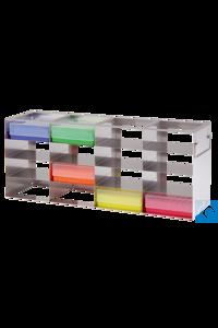neoLab® Schrankgestell f. 50erBox, 3x3 Fächer, 142 x 426 x 169 mm Für alle Boxen mit den...