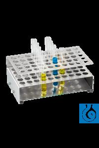 neoLab® Edelstahlständer Edelstahlständer für Reagenzgläser. Es handelt sich um einen Ständer,...