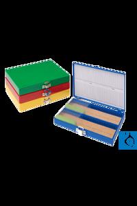 neoLabLine® Objektträger-Kasten für 100 OT, ABS, blau neoLab® Slide box for 100 microscope...