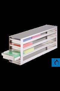 neoLab® Schrankeinschub m. Stopp f. 3x4 50er Boxen, 148 x 450 x 245 mm Für alle Boxen mit den...