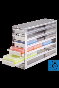 neoLab® Schrankeinschub mit Stopp f. Boxen f. 15/50 m, 4 x 2 Fächer Für neoLab-Boxen für...