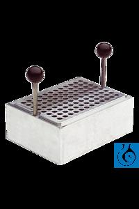 neoLab Heating block aluminium for microplates, neoBlock DUO 2-2504 Aluminium Heizblock massive,...